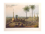 Scene from the Upper Terrace of the Great Pagoda at Rangoon, to the South East, Engraved by H.… Giclee Print by Joseph Moore