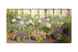Flower Border Giclee Print by Patrick William Adam