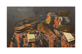 Still Life with Musical Instruments Giclee Print by Evaristo Baschenis