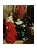 Anne of Austria (1601-66) with Cardinal Mazarin (1602-61) Giclee Print by Richard Parkes Bonington