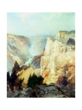 Grand Canyon of the Yellowstone Park Giclee Print by Thomas Moran
