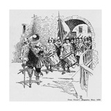 Stuyvesant Surrendering Fort Amsterdam to the English, from Harper's Magazine, 1893 Giclee Print by Howard Pyle