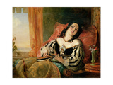 Lady Playing the Mandolin, 1854 Giclee Print by John Phillip
