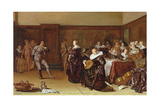 Dancing Party, 17th Century Giclee Print by Pieter Codde