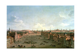 A View of the Calle De Alcala, Madrid, C.1750 Giclée-tryk af Antonio Joli