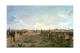 A View of the Calle De Alcala, Madrid, C.1750 Giclée-tryk af Antonio Joli