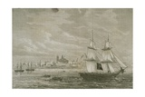 View of Montevideo, Uruguay, in the 1860s Giclee Print by Adolphe Gusman