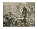 The Execution of Louis Xvi on 21 January, 1793 Giclee Print by H. de la Charlerie