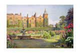 West Front and Gardens of Hatfield House, Herts Giclee Print by Ernest Arthur Rowe