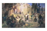 Christ and the Woman Taken in Adultery, 1888 Giclee Print by Vasilij Dmitrievich Polenov