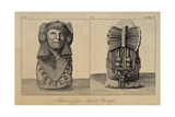 T.1596 Statue of an Aztec Priestess, Front and Back View, from Vol I of 'Researches Concerning… Giclee Print by Friedrich Alexander, Baron Von Humboldt