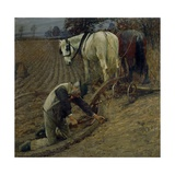 The Last Furrow, 1895 Giclee Print by Henry Herbert La Thangue
