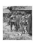 Endicott Cutting the Cross Out of the English Flag, Illustration from 'An English Nation' by… Giclee Print by Howard Pyle