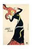 Poster for Jane Avril, 1899 Lámina giclée por Henri de Toulouse-Lautrec