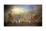 The Battle of the Texel, Kijkduin, 1673 Giclée-Druck von Willem Van De, The Younger Velde