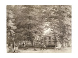 View of the Stables on Lord Fitzwilliam's Mount Merrion Estate, Near Dublin, 1806 Giclee Print by William Ashford