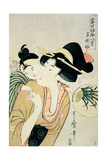 T H Riches 1913. a Lover of Children Giclee Print by Kitagawa Utamaro