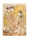 Returning Boats at the Beginning of Autumn, C.1779 Giclee Print by Torii Kiyonaga