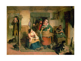 Listeners Ne'er Hear Any Good of Themselves Giclee Print by Thomas Faed