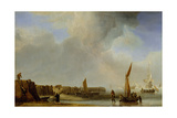 A Weyschuit Coming Ashore Near Den Helder, C.1655 Giclee Print by Willem Van De, The Younger Velde