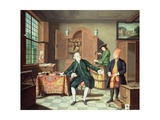 The Tobacco Merchant of Gehr Giclee Print by Johann Faber