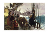Binding Sail after a Gale, 1881 Giclee Print by Alfred Edward Emslie