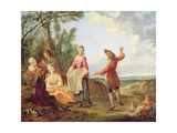 The Rustic Dance Giclee Print by Francois Louis Joseph Watteau
