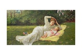 The First Born, C.1875 Giclee Print by Philip Richard Morris