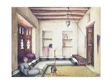 Interior of a House in the Yemen Giclee Print by Sir John Kirk