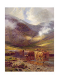 The Hills of Ardgell Giclee Print by Louis Bosworth Hurt