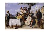 The Venetian Concert Giclee Print by Alexandre-Jean-Baptiste Hesse
