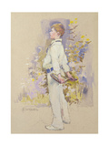 Alec in Whites Giclee Print by Elizabeth Adela Stanhope Forbes
