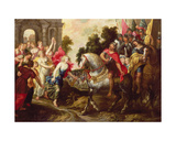 Jephthah: Greeted by His Daughter at Mizpath Giclee Print by Erasmus Quellinus