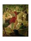 Girl Gathering Grapes Near Naples, 1827 Giclee Print by Karl Pavlovich Bryullov