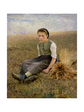 The Little Gleaner, 1884 Giclee Print by Hugo Salmson