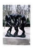 The Three Shades, 1881 Gicléetryck av Auguste Rodin