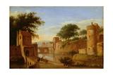 A Fortified Moat or Canal, C.1670 Giclée-Druck von Jan Van Der Heyden