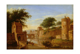 A Fortified Moat or Canal, C.1670 Giclee Print by Jan Van Der Heyden