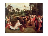 King Solomon and the Queen of Sheba Giclee Print by Frans The Elder Francken