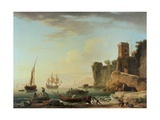 The Port of Genoa Giclée-Druck von Claude Joseph Vernet