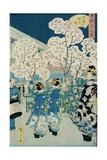 Cherry Blossoms at Asakura Giclee Print by Ando Hiroshige