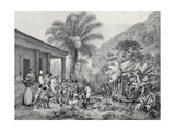 T1239 a Botocudos Indian Family, Engraved by Victor Adam (1801-66) C.1835 Giclee Print by Johann Moritz Rugendas