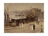 Lindsey Wharf Giclee Print by Walter Greaves