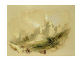 Jerusalem and the Tower of David Giclée-tryk af David Roberts