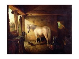 The Blacksmith's Shop Giclee Print by Edward Robert Smythe