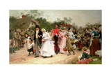 The Village Wedding, 1883 Giclee Print by Sir Samuel Luke Fildes