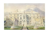 View of a Villa on the Bay of Naples Giclee Print by Pierre Francois Leonard Fontaine