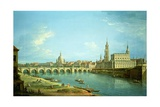 A View of Dresden Giclée-tryk af Antonio Joli