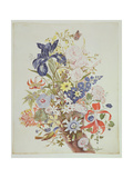Mixed Flowers in a Cornucopia, C.1768 Giclee Print by Thomas Robins