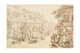 The Rag Fair Giclee Print by Thomas Rowlandson